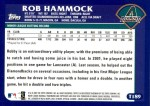 2003 Topps Traded #189 T  -  Rob Hammock First Year Back Thumbnail