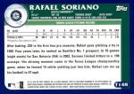2003 Topps Traded #148 T  -  Rafael Soriano Prospect Back Thumbnail