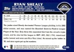2003 Topps Traded #185 T  -  Ryan Shealy First Year Back Thumbnail