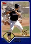 2003 Topps Traded #185 T  -  Ryan Shealy First Year Front Thumbnail