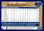 2003 Topps Traded #58 T Albie Lopez  Back Thumbnail