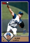 2003 Topps Traded #58 T Albie Lopez  Front Thumbnail