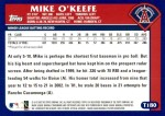 2003 Topps Traded #180 T  -  Mike O'Keefe First Year Back Thumbnail