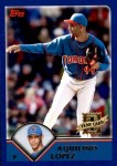 2003 Topps Traded #215 T  -  Aquilino Lopez First Year Front Thumbnail