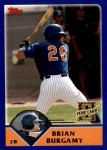 2003 Topps Traded #261 T  -  Brian Burgamy First Year Front Thumbnail