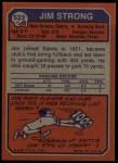 1973 Topps #523  Jim Strong  Back Thumbnail
