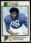 1973 Topps #30  Alan Page  Front Thumbnail