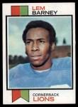 1973 Topps #370  Lem Barney  Front Thumbnail