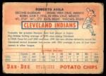 1954 Dan-Dee  Bobby Avila  Back Thumbnail