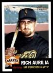 2002 Topps Heritage #109  Rich Aurilia  Front Thumbnail