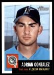 2002 Topps Heritage #184  Adrian Gonzalez  Front Thumbnail
