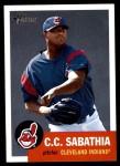 2002 Topps Heritage #13  C.C. Sabathia  Front Thumbnail