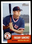 2002 Topps Heritage #158  Freddy Sanchez  Front Thumbnail