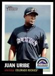2002 Topps Heritage #199  Juan Uribe  Front Thumbnail