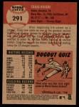 2002 Topps Heritage #291  Craig Biggio  Back Thumbnail