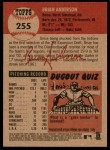 2002 Topps Heritage #255  Brian Anderson  Back Thumbnail