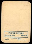 1970 Topps Glossy #24  Floyd Little  Back Thumbnail