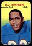 1970 Topps Super Glossy #22  O.J. Simpson  Front Thumbnail