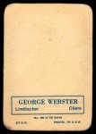 1970 Topps Super Glossy #26  George Webster  Back Thumbnail