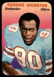 1970 Topps Super Glossy #26  George Webster  Front Thumbnail