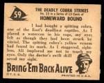 1950 Topps Bring Em Back Alive #59   The Deadly Cobra Strikes Back Thumbnail