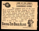 1950 Topps Bring Em Back Alive #41   Land Of Evil Spirits Back Thumbnail