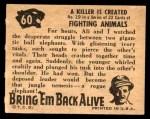 1950 Topps Bring Em Back Alive #60   Killer Is Created Back Thumbnail