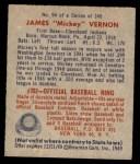 1949 Bowman #94  Mickey Vernon  Back Thumbnail