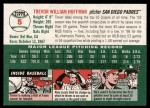 2003 Topps Heritage #5  Trevor Hoffman  Back Thumbnail
