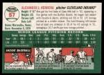 2003 Topps Heritage #57  Alex Herrera  Back Thumbnail