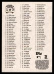 2003 Topps Heritage #0   Checklist 1 of 3 Back Thumbnail