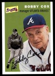 2003 Topps Heritage #176  Bobby Cox  Front Thumbnail