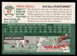 2003 Topps Heritage #67  Vinny Castilla  Back Thumbnail