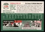 2003 Topps Heritage #105  Derrek Lee  Back Thumbnail
