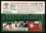 2003 Topps Heritage #15  Doug Mientkiewicz  Back Thumbnail