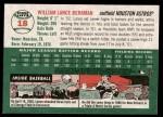 2003 Topps Heritage #18 BLU Lance Berkman   Back Thumbnail