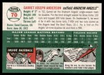 2003 Topps Heritage #70  Garret Anderson  Back Thumbnail