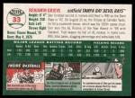 2003 Topps Heritage #33  Ben Grieve  Back Thumbnail