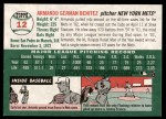 2003 Topps Heritage #12  Armando Benitez  Back Thumbnail