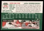 2003 Topps Heritage #270  Aaron Cook  Back Thumbnail