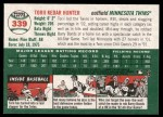 2003 Topps Heritage #339  Torii Hunter  Back Thumbnail