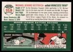 2003 Topps Heritage #318  Michael Restovich  Back Thumbnail