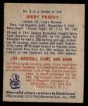 1949 Bowman #4 NAM Jerry Priddy  Back Thumbnail
