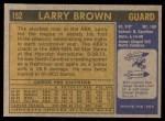1971 Topps #152  Larry Brown  Back Thumbnail