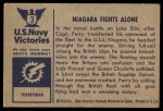 1954 Bowman U.S. Navy Victories #3   Niagara Fights Alone Back Thumbnail