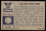 1954 Bowman U.S. Navy Victories #16   Y Gun Helps Defeat Enemy Back Thumbnail