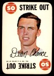 1968 Topps Game #16   Dean Chance   Front Thumbnail