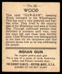 1947 Goudey Indian Gum #86   Wood Back Thumbnail