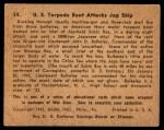 1941 Gum Inc. War Gum #34   U.S. Torpedo Boat Attacks Japanese Ship Back Thumbnail