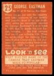 1952 Topps Look 'N See #25  George Eastman  Back Thumbnail